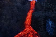 Volcanoes and lava flows / by Kim Greene