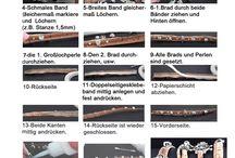 Korkarmbänder / Korkarmbänder mit Großlochperlen und/oder Brads (Nieten) aus ein oder mehrere Bänder.