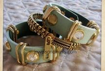 JewelMint Bronze Zip Bracelet