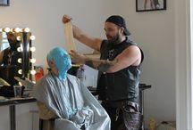 Life Cast Workshop with Tate Steinsiek / Tate Steinsiek (Movie Director) does a life cast workshop at The International Make-up Academy. April 2014.