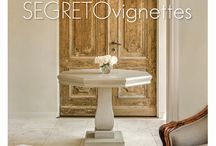 New Segreto Book / The third and newest book from Segreto - Vignettes features the best looking interiors.  Extra tutorials on how to create a beautiful house are included.  I wrote the chapter on Slipcovers!