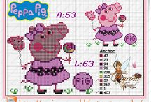 Peppa Pig Ponto cruz