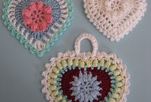 Crochet Hearts and triangles