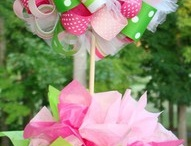 Wreathes and ribbons! / by Carmen Sanders