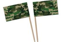 Army Camouflage Party Ideas / Hold your fire and plan a awesome camouflage army theme party for a birthday or a welcome home event! We have traveled through many Boards to bring you the best camouflage party ideas and army party decorations out there! There are also some of our best sellers as well. Happy planning!