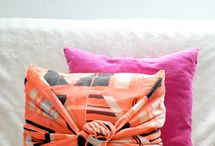 Use scarf to cover pillows