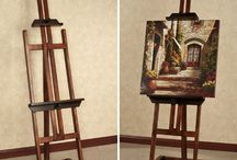 Display Stands & Easels / These display easels are ready and waiting to showcase your favorite items. A tabletop easel can display a variety of objects, while a floor stand is great for a large artwork.