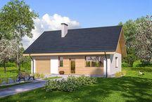 Domy z poddaszem do adaptacji / Domy parterowe, w których zaprojektowano jedną kondygnację naziemną oraz niezagospodarowane poddasze, możliwe do adaptacji według indywidualnej koncepcji Inwestora. W dokumentacji projektów domów parterowych z poddaszem do adaptacji przewidziano strop użytkowy (żelbetowy lub drewniany) oraz otwór w stropie umożliwiający realizację klatki schodowej. Poddasze można zagospodarować w dowolnym momencie i przeznaczyć je np. na: pokój hobby, pracownię.