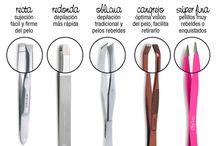 Diferentes puntas para la pinza de depilar
