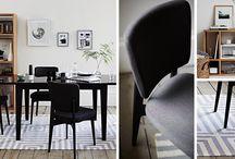 Monochrome Simplicity / Monochrome home decor ideas, black and white home decor ideas.