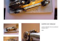 SORTIE DE VIRAGE / FERRARI /SCULPTURE /Bronze/automobile