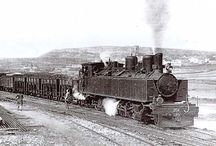 trenes / antiguos / by trini