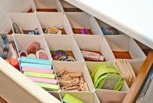 Domowe biuro / Organizacja przestrzeni w domowym biurze.