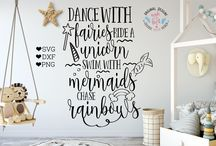Nursery Toddlers Girls SVG cut files / Cutting files available in SVG, DXF, PNG
