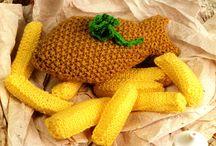 crochet fish & chips