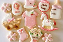 Royal icing cookies babies
