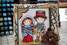 Paper Nest Doll cards I {heart} / Paper Nest Doll Cards