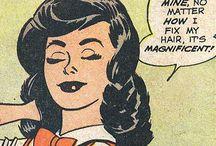 Vintage comic book girls