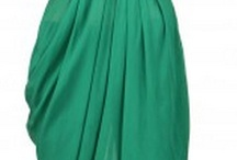 Draped Dhoti Skirt with Attached Top