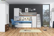 Łóżka piętrowe z biurkiem