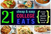 Easy ResHall Recipes / Simple, easy, and affordable meals to make in your hall!