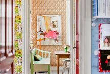 Rooms / Scandi design, diy, plywood furniture, light and contrast, clever small space solution