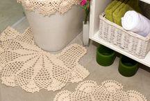 Crochet home / tapetes,carpetas,accesorio del hogar / by Martha Salazar