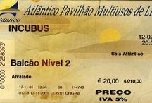 My Ticket Biography / Uma biografia feita de bilhetes... (... finalmente arrumei o quarto ...)