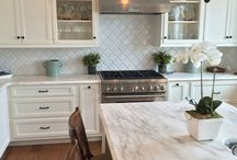 arabesque tile kitchen splasback