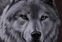 Wolf art / Wolves by Sandrine Curtiss