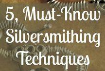 Hopeasepän työt / Silversmithing tecniques