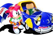 Sonic Drift / Some official art, magazine scans and character/kart art from Sonic Drift.  More info on this game at http://sonicscene.net/sonic-drift
