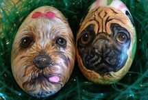 Custom Easter Egg Portraits