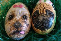 Custom Easter Egg Portraits