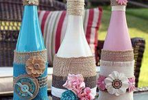 Decoupage bottle