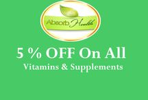 Absorb Health Coupon Codes / AbsorbYourHealth.com is a brand of dietary supplement and natural skin care products. AbsorbYourHealth.com is an online store provides a wide range of supplements and nutrition vitamins. Absorb Health began in 2011. Absorb Health offers different product categories including Cognitive Health, Immune Health, Joint Health, Sexual Health, Sports Performance & Weight Management products. Use our Absorb Health Coupon Codes to get extra discount on your purchased items.