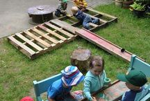 Outdoors / Ideas for an outdoor environment in an early childhood setting based on the theories of Reggio Emilia, Montessori, Waldorf, and Steiner.