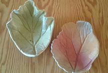 Ceramic leaves