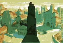 BACKGROUNDS-LAZARILLO DE TORMES by DEMIGUEL / backgrounds#artconcept#animation#illustration#book#