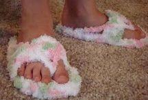 Háčkované bačkory,boty,ponožky