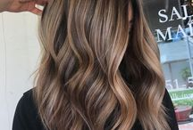 Hair colour balayage