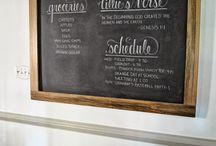 office chalk board
