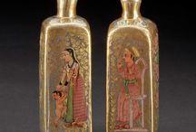 Mughal gilt glass bottles
