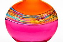 glass: vivid colors & shapes / Art glass captures the dance of light and color like nothing else. From blown glass vases to flame-worked sculpture, discover the largest selection of contemporary art glass in America. http://www.artfulhome.com/art-glass.html