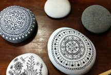 painting on pebbles
