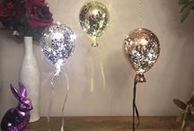 Glass balloons, balloon lights, wedding balloons, glass lights, unusual quirky light gorgeous wedding / More of our range of beautiful glass balloons check out lavender Nook on Facebook to buy!
