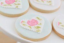 Macarons y galletas in love