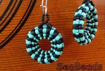 SeaBeads Beaded Earrings / More of my beadwork can be seen on my website: https://seabeads.wordpress.com