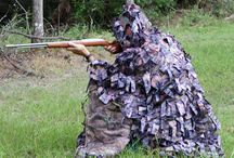 Hunting Gear / Big game lifts, Bigfoot Camo, tree stands, layout blinds, hats, tree steps, and more