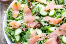 smoked salamon salad